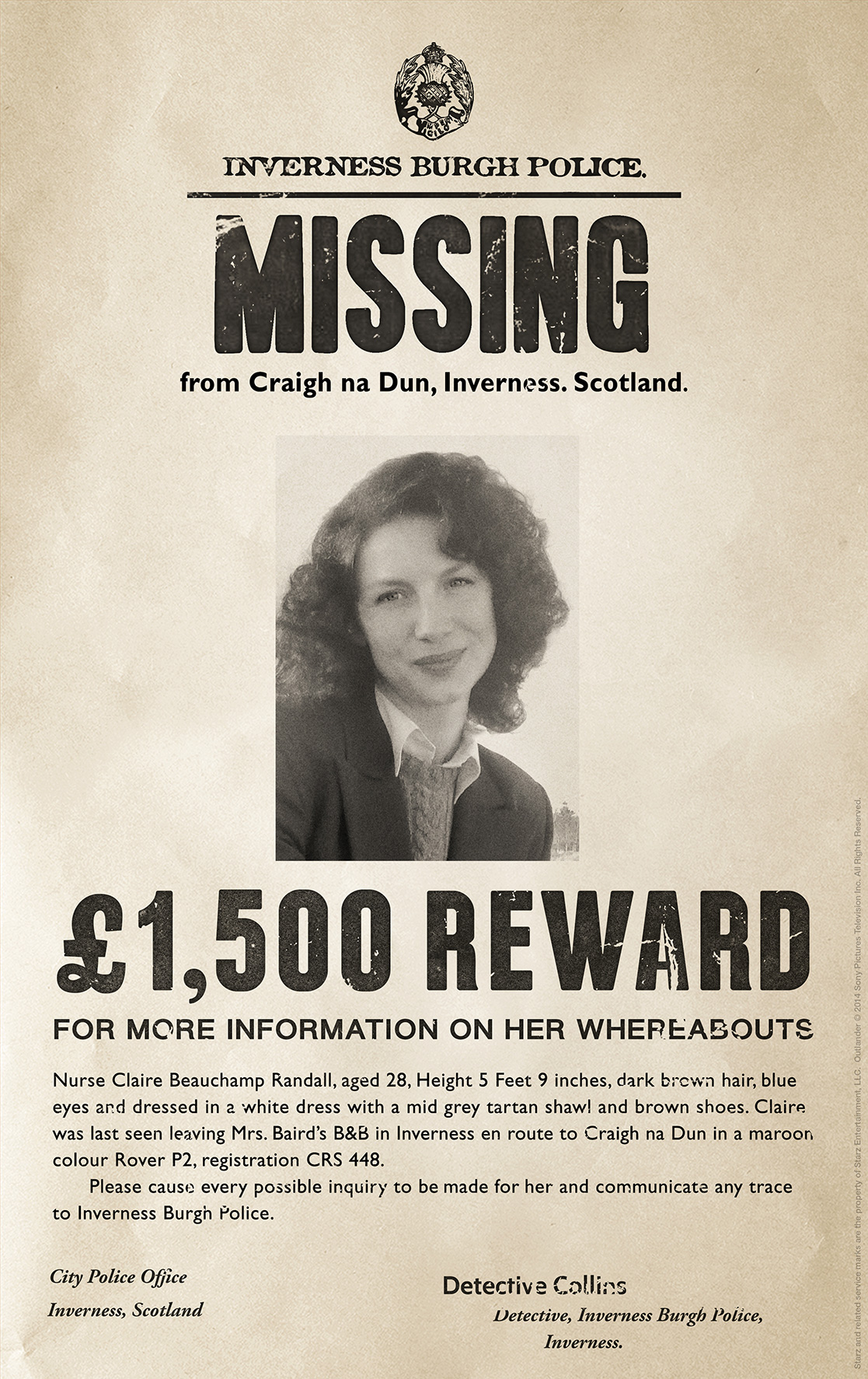 Claire Poster  Funny Missing Person Poster