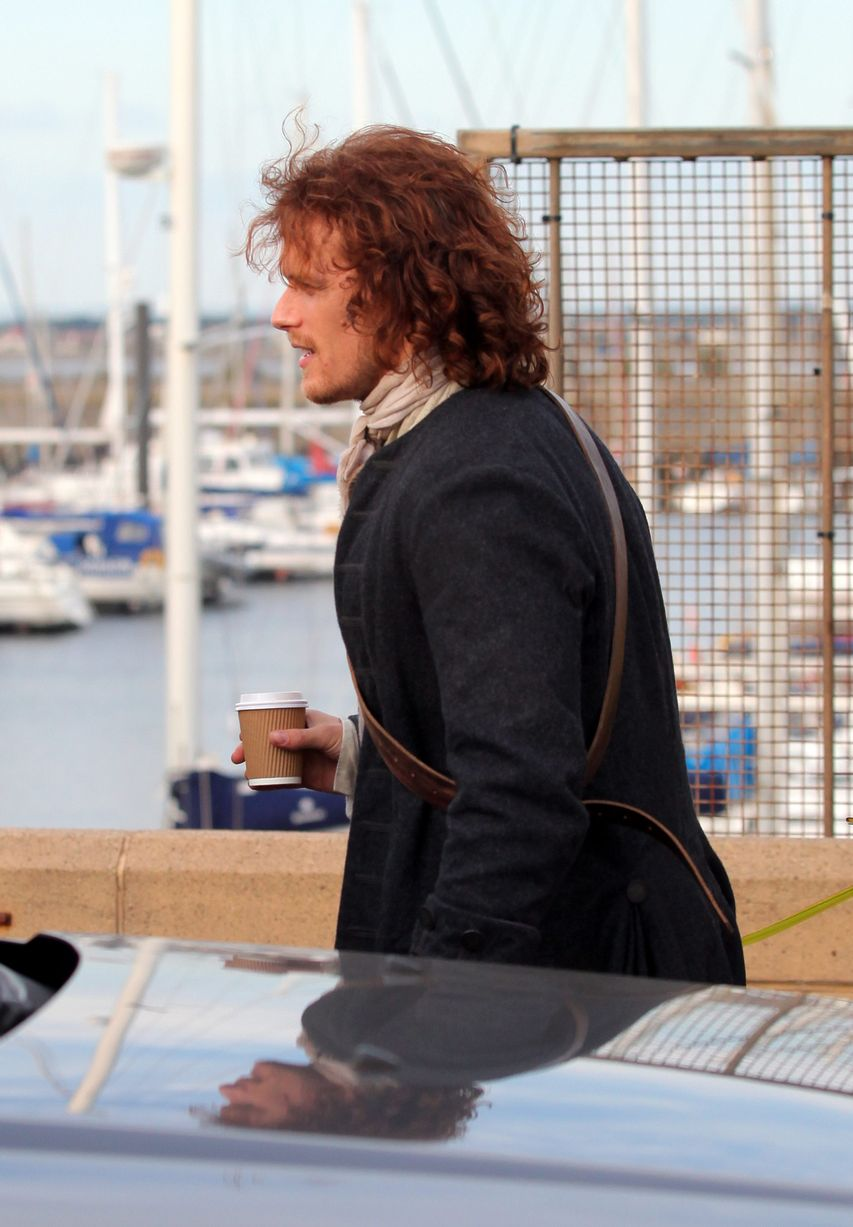 Filming In Progress The Most Beautiful Actress In The World: Behind The Scenes Photos Of Sam, Caitriona, And Duncan