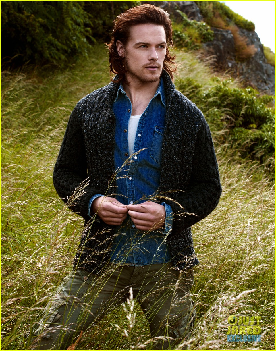 Just Jared Shines the Spotlight on Sam Heughan | Outlander ...