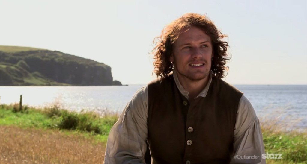 Sam Heughan The Wedding BTS Screen Cap