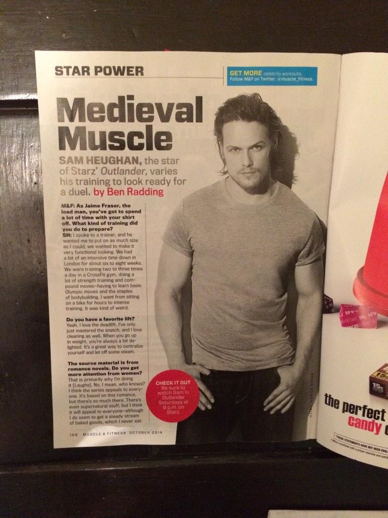 Sam Heughan Muscle and Fitness