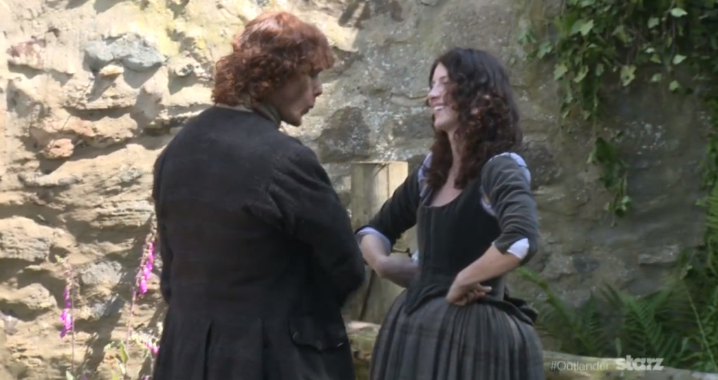 Caitriona BTS Video Screen Cap