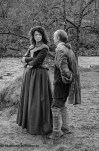 Matt Roberts BTS Caitriona and Bill