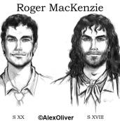 Roger Mackenzie drawing Alex Oliver