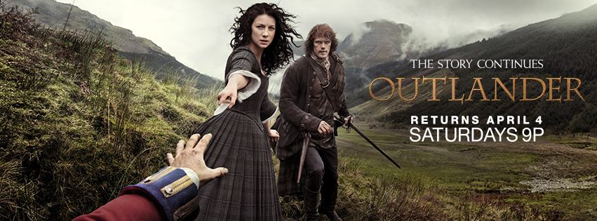 Outlander Second Half Season One Poster Wide