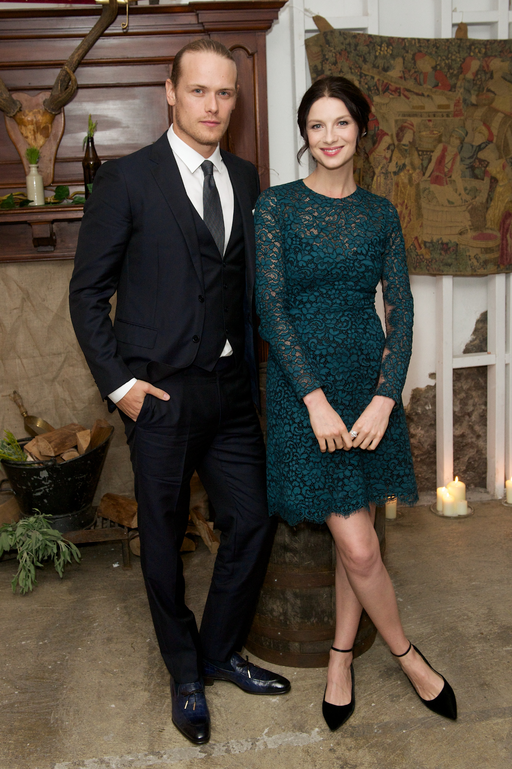 Sam Heughan and caitriona balfe interview
