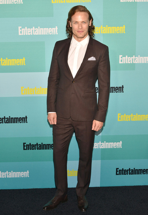 SAN DIEGO, CA - JULY 11:  Sam Heughan arrives at the Entertainment Weekly celebration at Float at Hard Rock Hotel San Diego on July 11, 2015 in San Diego, California.  (Photo by Araya Diaz/Getty Images)