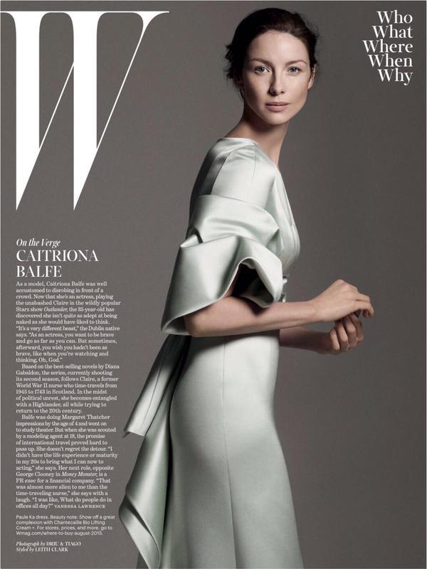 W magazine Caitriona