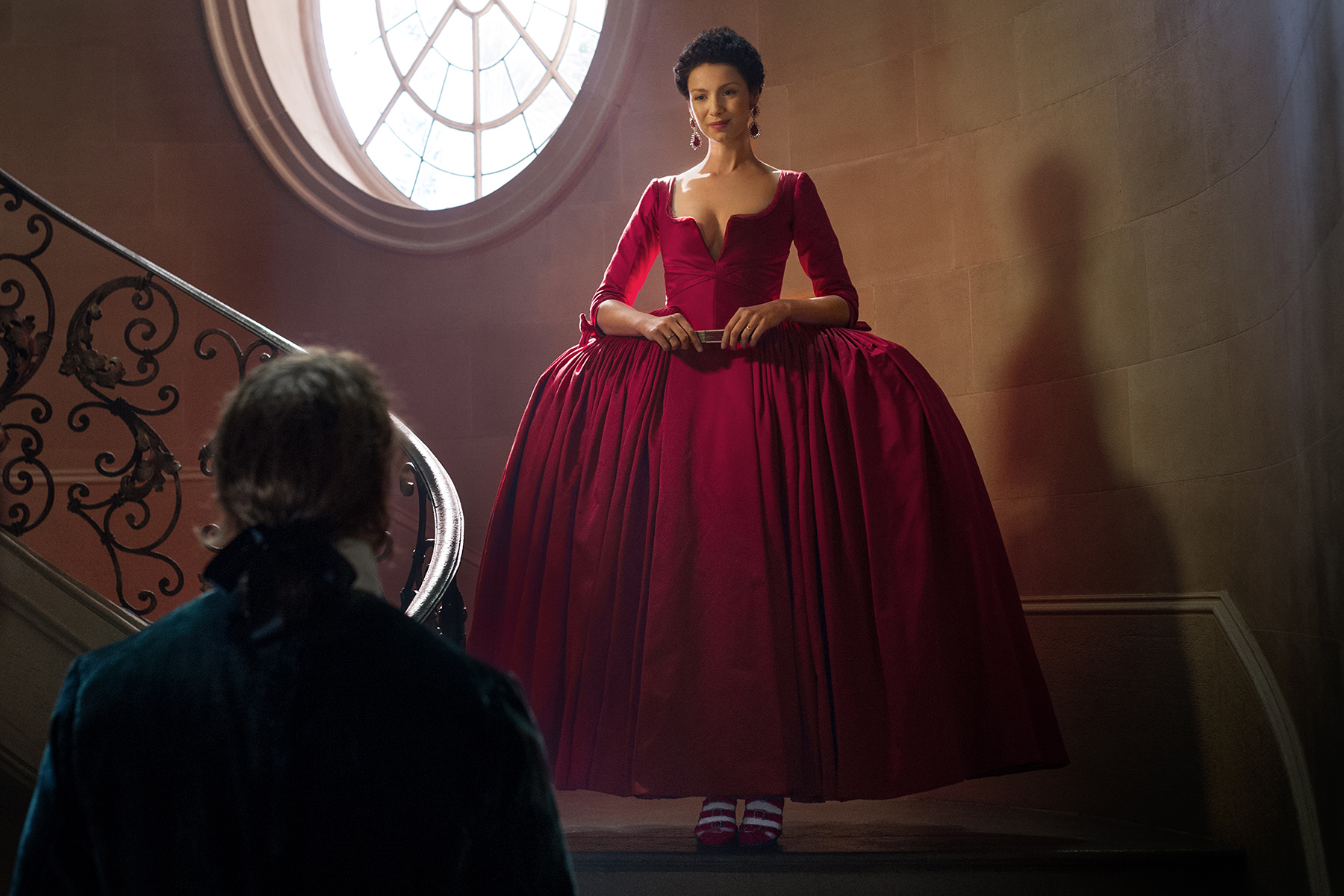 Robe rouge outlander