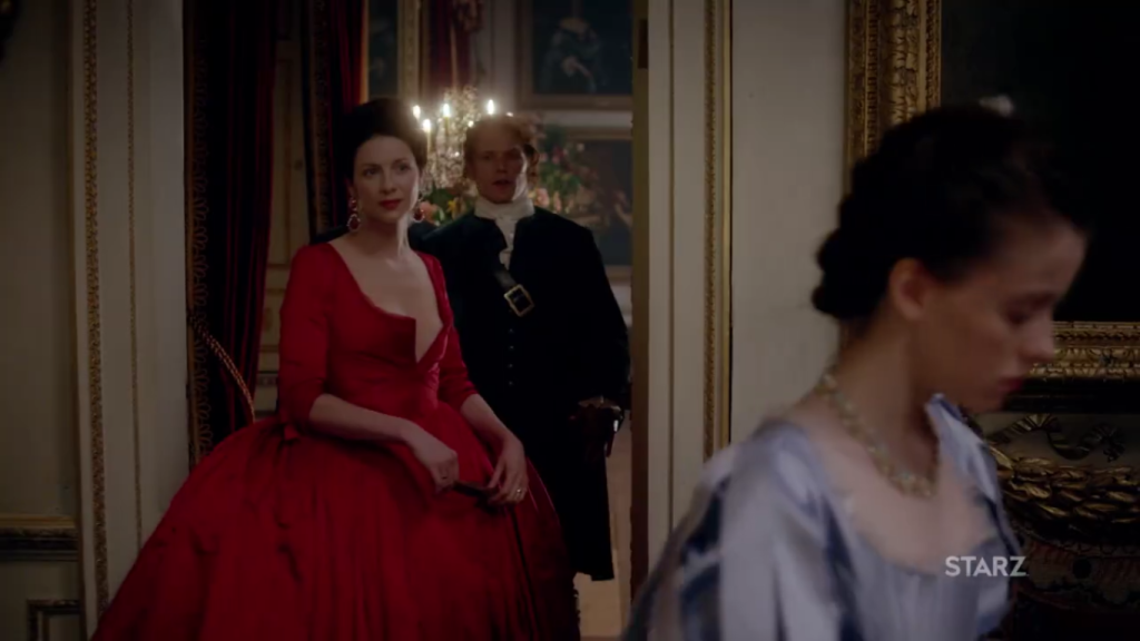 Red Dress Claire Caitriona