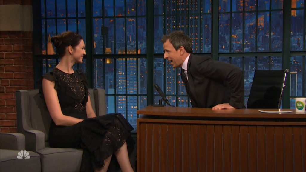 Caitriona Balfe Late Night Seth Meyers