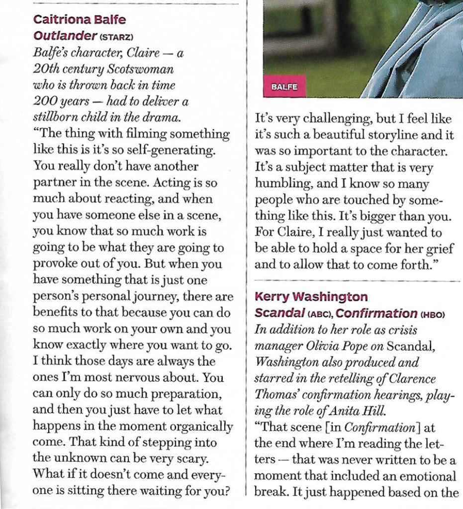 Caitriona THR Interview Scan